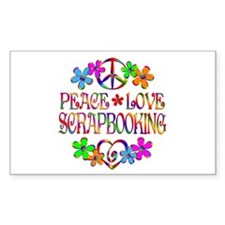 Peace Love Scrapbooking Decal