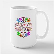 Peace Love Scrapbooking Mug