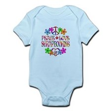 Peace Love Scrapbooking Infant Bodysuit