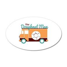 Doughnut Man Wall Decal