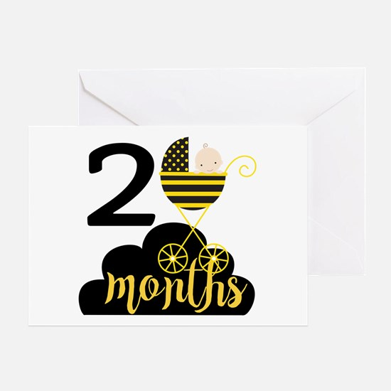 2 Months Monthly Milestone Greeting Card