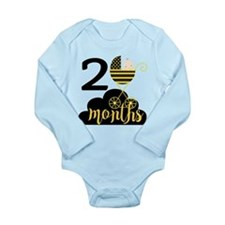 2 Months Monthly Miles Long Sleeve Infant Bodysuit