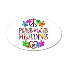 Peace Love Reading Wall Decal