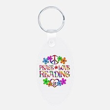 Peace Love Reading Keychains