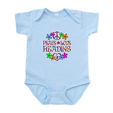 Peace Love Reading Infant Bodysuit