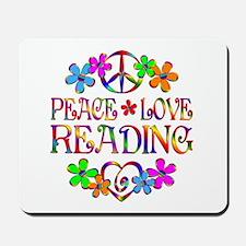 Peace Love Reading Mousepad