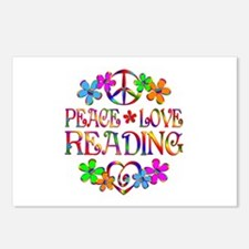 Peace Love Reading Postcards (Package of 8)