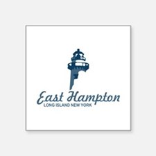 "East Hampton - New York. Square Sticker 3"" X"