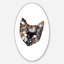 Cat Cat Sticker (Oval)