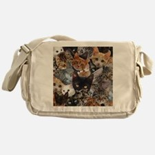 Kitty Collage Messenger Bag
