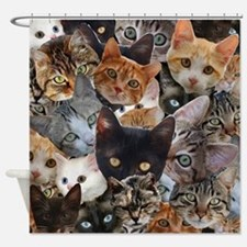 Kitty Collage Shower Curtain