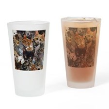 Kitty Collage Drinking Glass