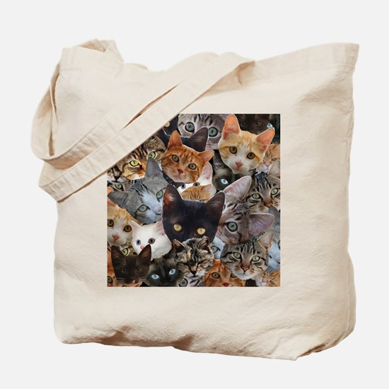 Kitty Collage Tote Bag