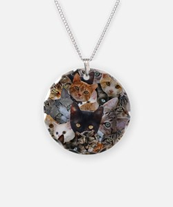 Kitty Collage Necklace