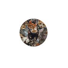 Kitty Collage Mini Button