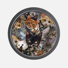 Kitty Collage Wall Clock