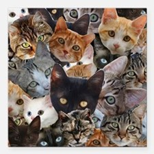 "Kitty Collage Square Car Magnet 3"" x 3"""