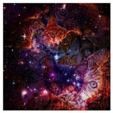 The Cat Galaxy Framed Print