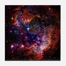 The Cat Galaxy Tile Coaster