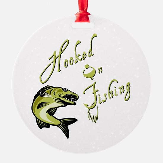 HOOKED ON FISHING Ornament