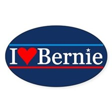 I Heart Bernie Sticker (oval)