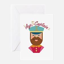 Aye Captain Greeting Cards