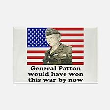 Patton Iraq Rectangle Magnet
