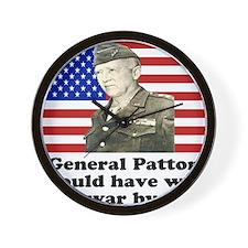 Patton Iraq Wall Clock
