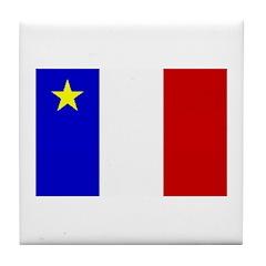 Acadian Stuff Tile Coaster