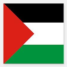 "Square Palestinian Flag Square Car Magnet 3"" x 3"""