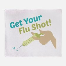Flu Shot Throw Blanket