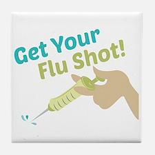 Flu Shot Tile Coaster