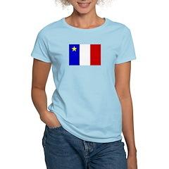 Acadian Stuff Women's Pink T-Shirt