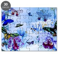Take Flight Butterfly Orchid Art Puzzle