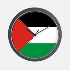 Square Palestinian Flag Wall Clock