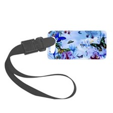 Take Flight Butterfly Orchid Art Luggage Tag