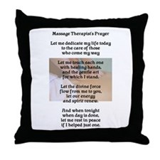 Massage Therapist's Prayer Throw Pillow