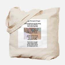 Massage Therapist's Prayer Tote Bag