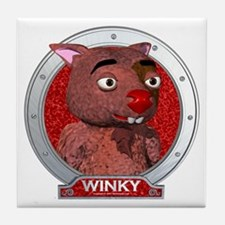 Winky's Red Portrait Tile Coaster