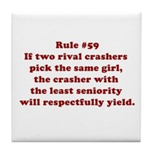 Rule #59 Tile Coaster