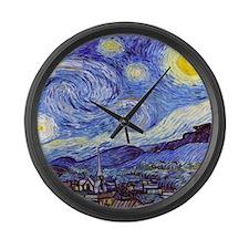 Starry Night Van Gogh Large Wall Clock
