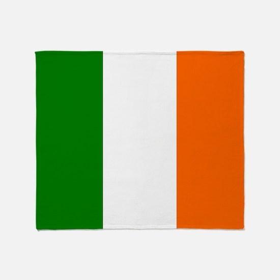 Borderless Square irish Flag Throw Blanket