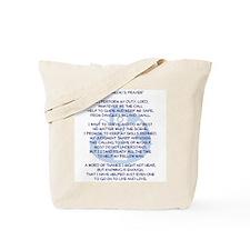 Paramedic's Prayer Tote Bag