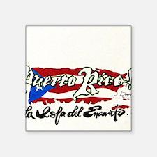 """Puerto Rico1 Square Sticker 3"""" x 3"""""""