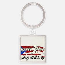 Puerto Rico1 Square Keychain
