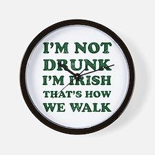 Im Not Drunk Im Irish - Washed Wall Clock