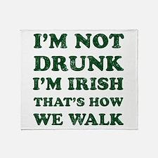 Im Not Drunk Im Irish - Washed Throw Blanket