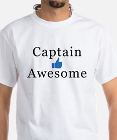 White Captain Awesome T-Shirt