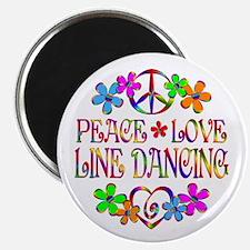 "Peace Love Line Dancing 2.25"" Magnet (10 pack)"
