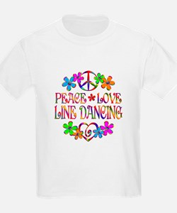 Peace Love Line Dancing T-Shirt